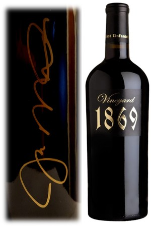 2013 Scott Harvey Vineyard 1869 Zinfandel, Amador County - Signed by Joe Montana Image