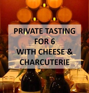 Wine Club Private Tasting for 6 with Cheese & Charcuterie