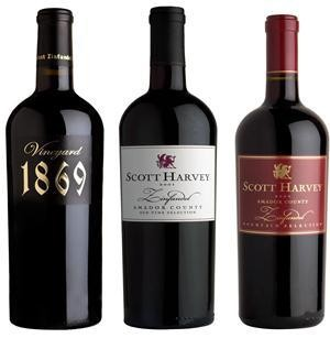 Scott Harvey Zinfandel Trio, Amador County