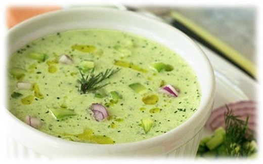 Cold Cucumber and Fresh Dill Soup